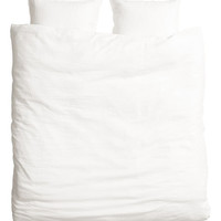 King/Queen Linen Duvet Set - from H&M