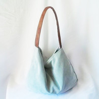 Mint Green Corduroy Hobo handbag by ACAmour on Etsy
