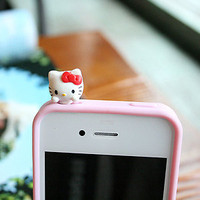 Hello Kitty Original Anti-dust Dock Earphone Plug Stopper for iPhone Smartphone | eBay
