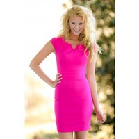 She Is Everything Dress-Hot Pink
