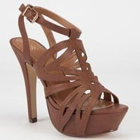 Delicious Rustic Womens Heels Tan  In Sizes