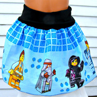 Awesome Skirt made with Licensed The LEGO Movie fabric Emmet Wyldstyle Lord Business