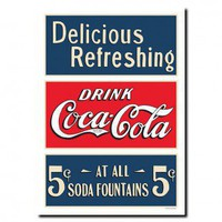 Trademark Global 24&quot; Coca Cola Soda Fountain Stretched Canvas Art - CokeVS01-C1824GG - Canvas Art - Wall Art &amp; Coverings - Decor