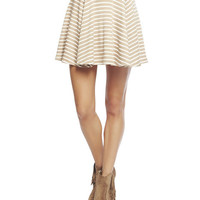 Stripe Ponte Skater Skirt | Wet Seal