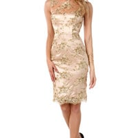 Enticing Lace Cutouts Dress