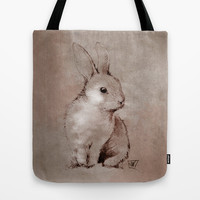 Bunny Rabbit Tote Bag by Jonathan Wilson