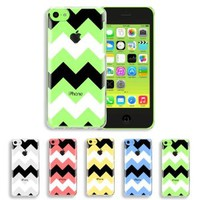 Akna Jelly Defense Series Transparent Hybrid TPU Clear Soft Snap On Back Case for iPhone 5C [Zigzag]