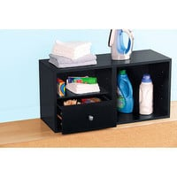 Mainstays Modular Storage Single Drawer Add-On Kit, Black