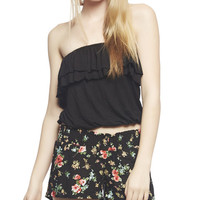 Ruffle Back Tribal Tube Top | Wet Seal