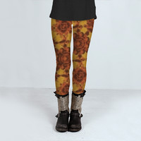 Ornamental Little Flowers Pattern by Daniel Ferreira-Leites (Leggings)