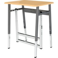 "Archetype Series ABAX Stand Up Desk - Solid Plastic Top - 26""-42"" Adj. Desk Height at SCHOOLSin"