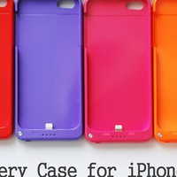 Protective Battery Case for iPhone5/5s-9colors