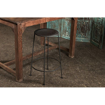 Iron Zinc-finish Bar Stool (India) | Overstock.com
