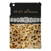 99.9% Princess, Leopard Print, Diamonds iPad Case