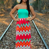 Summer Sunset Maxi Dress