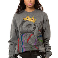 The Peace Biggie Crewneck Sweatshirt in Heather Grey