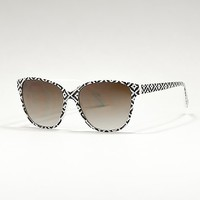 Women's Printed Sunglassesin Black/