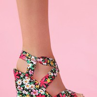Wildflower Platform Wedge in What's New at Nasty Gal