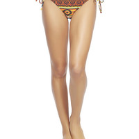 Tribal Sunset Tie Sides Bikini Bottoms | Wet Seal