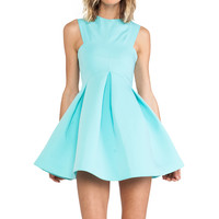 AQ/AQ Broadwalk Mini Dress in Blue