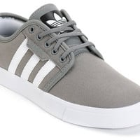 Adidas Seeley Grey Canvas Skate Shoe