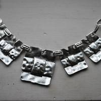 Tibetan Traditional Silver Weaved Squares Necklace - Jewelry & Watches