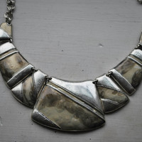 Tibetan Traditional Silver Square and Rectangles Necklace - Necklaces & Pendants