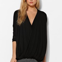 Sparkle & Fade Oversized Surplice Top - Urban Outfitters