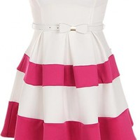 The Sweetheart Striped Dress - 29 N Under