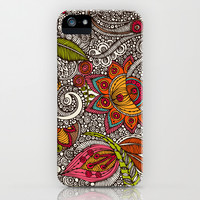 Random Flowers iPhone & iPod Case by Valentina