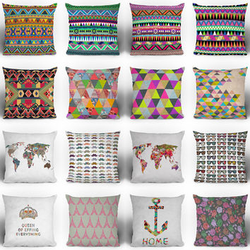 Bianca Green Throw Pillows | DENY Designs