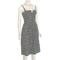 Lanz Originals Vintage 1970s Sundress Floral Print Dress S/XS