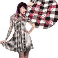 Sourpuss Western Style Swallow Dress