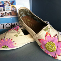 Painted Custom Toms by VictoryBell on Etsy