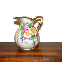 Vintage Lefton China Hand Painted pitcher from 1960's SL 7642