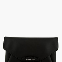 Givenchy Black Antigona Evening Sugar Large Envelope Clutch