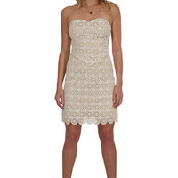 Beyond Vintage Venetian Lace Dress in Ivory Shop Online Carolina Boutique Mill Valley