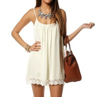 Pre-Order: Ivory Sleeveless Crochet Tunic