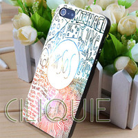 5sos colorfull line art - iPhone 4/4s/5/5s/5c Case - Samsung Galaxy S2/S3/S4 Case - Black or White