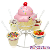Ice Cream Social Candy Topping Spinning Server | CandyWarehouse.com Online Candy Store