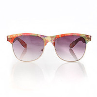 Floral Trim Sunglasses - Sunglasses at Pinkice.com