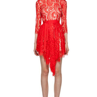 Lover | Serpent Lace Dress in Scarlet