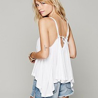 Free People Sleeveless Drapey Open Back Tank