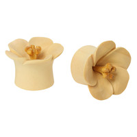 Urban Star Organic Wood Blossom Saddle Plug 2 Pack