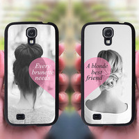 Samsung Galaxy S4,brunette and blonde Best Friends,samsung galaxy note 3 case,note 2 case,samsung S4 mini,S3 mini,samsung galaxy s4 active