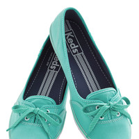 Coast of All Flat in Mint | Mod Retro Vintage Flats | ModCloth.com