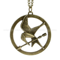 The Hunger Games Inspired Mockingjay necklace with by luckyvicky