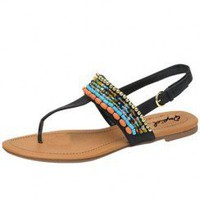 ETHNIC BEAD SANDAL-Sandals-Sexy Sandal, High heel sandals, prom dress sandals, Evening dress sandals, Party Dress sandals, Club Dress sandals, Thong sandals