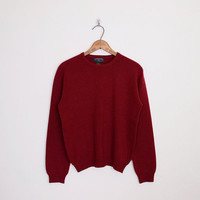 100% Cashmere Sweater Burgundy Sweater Maroon Sweater Oxblood Red Oversize Sweater Oversize Jumper 90s Sweater 90s Grunge Sweater M Medium
