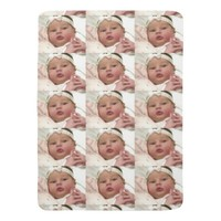 Personalized custom photo baby blanket